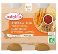 Babybio Pot Légumes Pâtes Bolognaise Boeuf à ANDERNOS-LES-BAINS