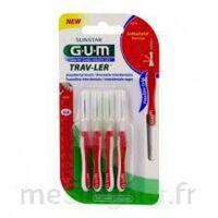 Gum Trav - Ler, 0,8 Mm, Manche Rouge , Blister 4 à ANDERNOS-LES-BAINS