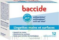 Baccide Lingette désinfectante mains & surface 12 Pochettes à ANDERNOS-LES-BAINS