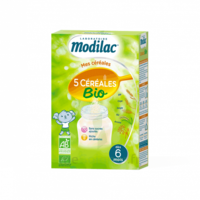 Modilac Céréales Farine 5 Céréales bio à partir de 6 mois B/230g à ANDERNOS-LES-BAINS