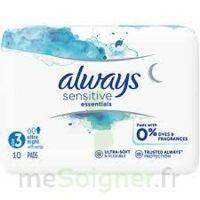 Always Serviettes Sensitives Essentials - Nuit à ANDERNOS-LES-BAINS