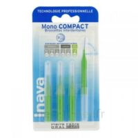 Inava Mono Compact Brossette Extra-large Vert Blister/4 à ANDERNOS-LES-BAINS