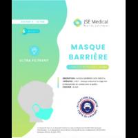 Masque barrière non médical Enfant (4/10 ans) Blancs B/6 à ANDERNOS-LES-BAINS