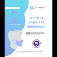 Masque barrière non médical Adulte Blancs B/6 à ANDERNOS-LES-BAINS