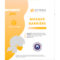 Masque barrière non médical Enfant (11/16 ans) Blancs B/6 à ANDERNOS-LES-BAINS