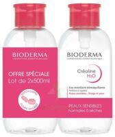Crealine H2o Solution Micellaire Nettoyante Apaisante Sans Parfum 2fl Pompe Inversée/500ml à ANDERNOS-LES-BAINS